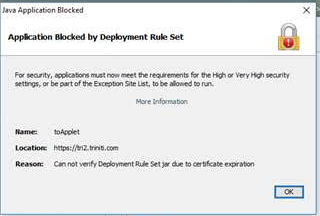 Deployment Rule Set Security Issue